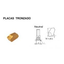 PLACA DE TRONZADO